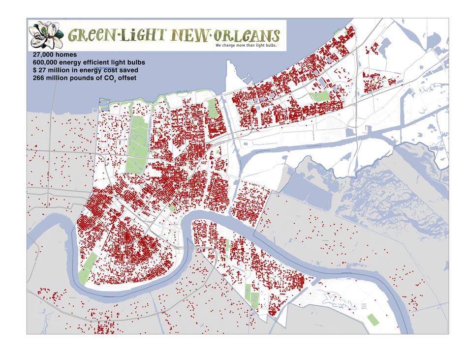 Green Light New Orleans Impact Map